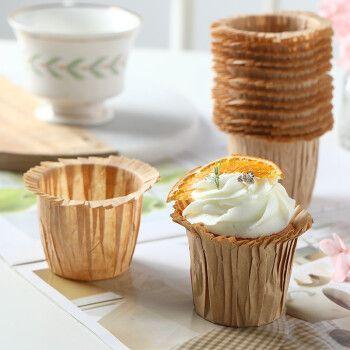 劣狐狐 礼帽纸杯戚风蛋糕 翻边玛芬杯 麦芬蛋糕防油纸托 马芬杯子蛋糕