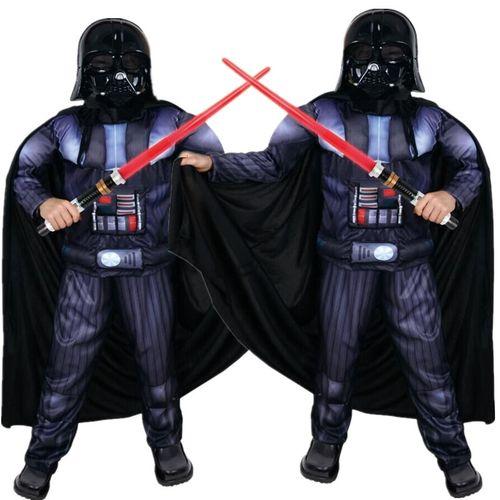 厂家直销万圣节服装儿童表演cos服装立体肌肉星球大战帝国黑武士