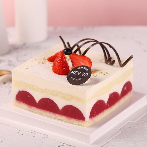 heyyo喜乳酪鲜莓优格生日草莓酸奶蛋糕热卖推荐同城速递 深圳广州