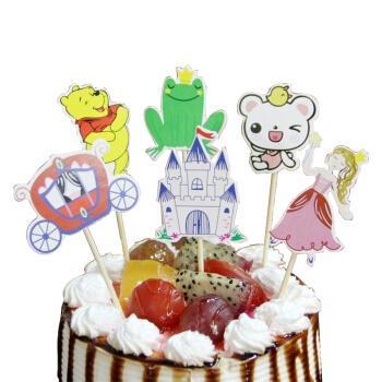 悦和冰 多款卡通生日蛋糕 插牌 插件 插旗甜片太纸杯蛋糕生日派对
