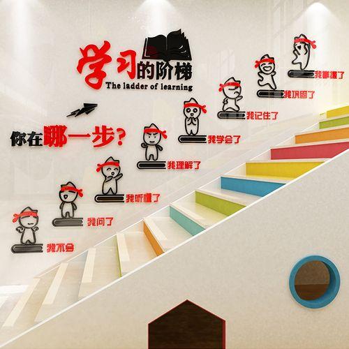 学习阶梯教室布置装饰文化墙贴班级小学楼梯教育培训