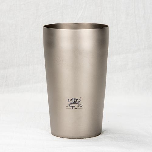 康钛纯钛双层啤酒杯户外钛水杯隔热防烫茶杯旅行家用