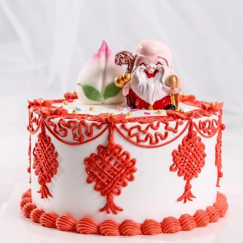 中国风寿星老人祝寿蛋糕