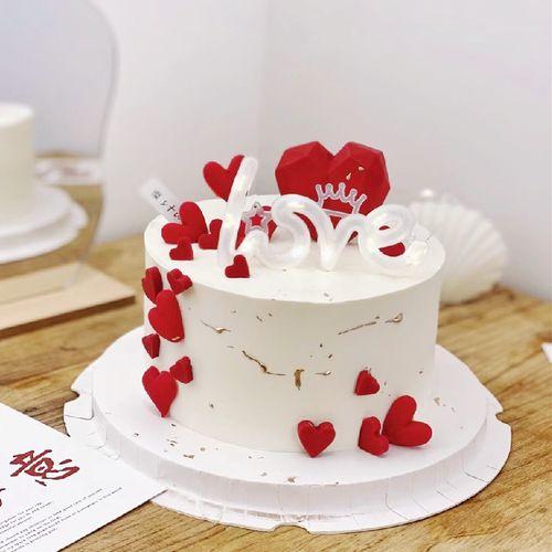 520节情侣浪漫love发光灯串纪念日气氛情景蛋糕