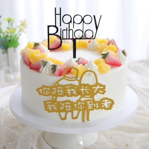 网红款蛋糕模型2020爆款水果流行生日假蛋糕塑胶样品