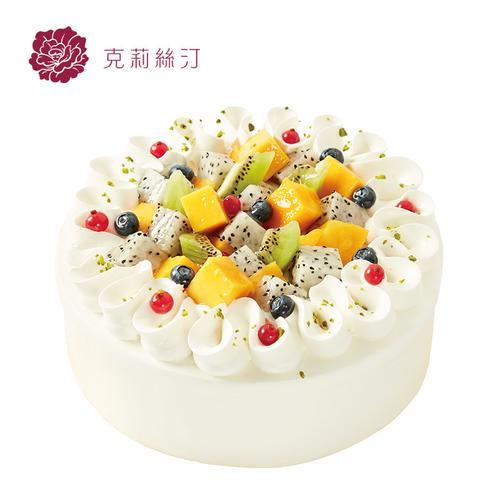 克莉丝汀生日蛋糕芒果慕斯蛋糕水果蛋糕奶油蛋糕上海