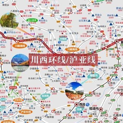 甘南旅游地图自驾游路线云南川藏南线318旅行青海