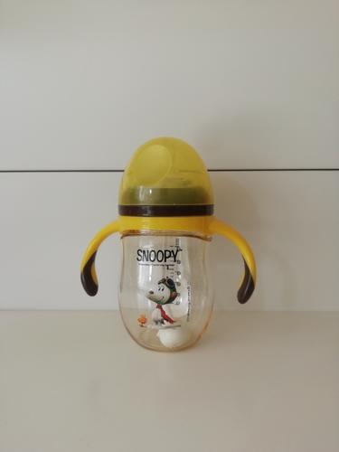 snoopy史努比宽口径ppsu奶瓶广口手柄新生儿宝宝奶瓶