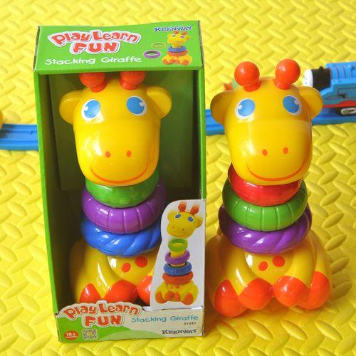宝宝彩虹叠叠乐儿童益智彩色套圈婴幼儿早教音乐不倒翁玩具0-1-2