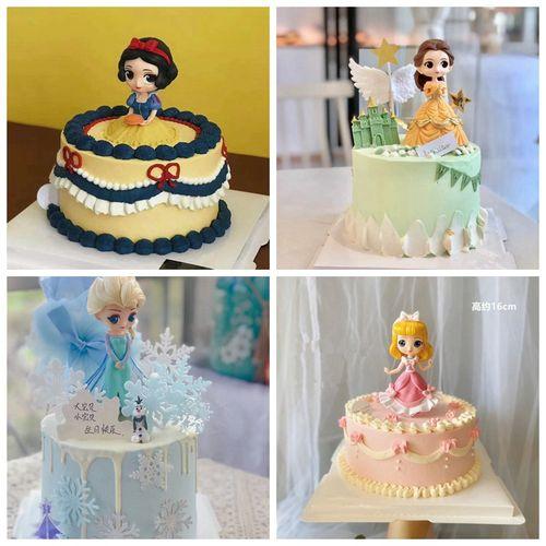 公主蛋糕装饰摆件女生少女宝宝周岁甜品台烘焙配件儿童生日插件