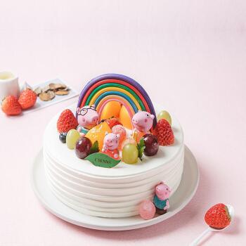 罗森尼娜|小猪佩奇8#-奶油戚风蛋糕 长沙儿童生日蛋糕