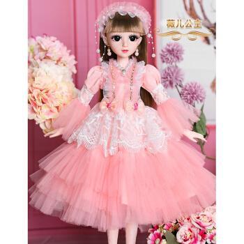 芭比娃娃套装大礼盒60厘米大号超大喜亚芭比换装洋娃娃时装时尚休闲