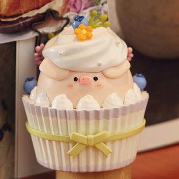 pig甜品系列公仔可爱小猪少女心摆件生日礼物 纸杯蛋糕(拆盒确认)