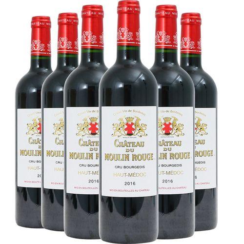 法国波尔多红酒红磨坊庄园干红葡萄酒 整箱 750ml*6瓶