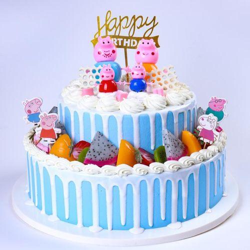 假蛋糕加厚流行羽毛双层蛋糕模型创意过寿摆日