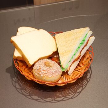 wo+ 真面包食品西餐糕点 手感pu逼真模型拍摄道具