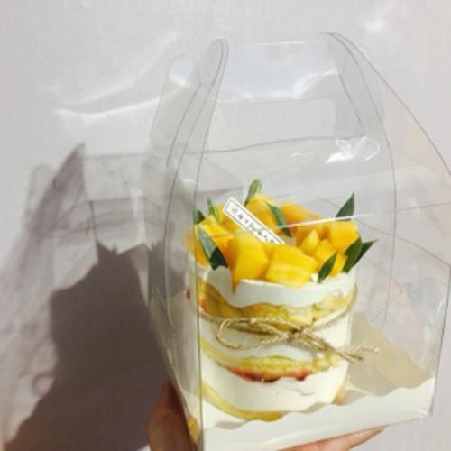 4寸5寸四寸五寸手提蛋糕盒透明爆浆方形生日蛋糕包装