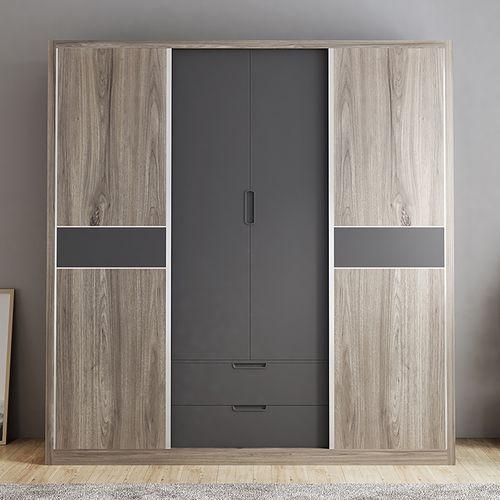 简莎北欧简约组合储物衣橱卧室衣柜16米衣柜多功能趟