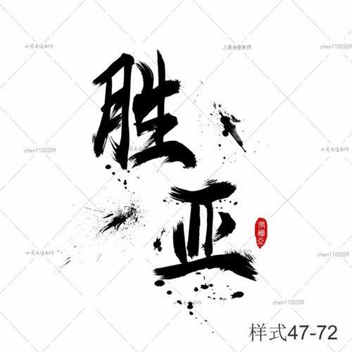 毛笔字中国风文字设计头像制作艺术字体设计古风文字