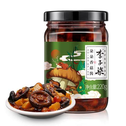 李子柒 朵朵香菇酱 辣椒酱香辣拌饭拌面下饭酱220g