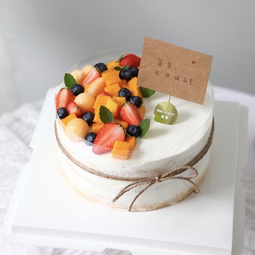pink planet 品客 长辈生日蛋糕