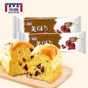 【2袋组合装】曼可顿 美味方系列巧克力面包 营养早餐