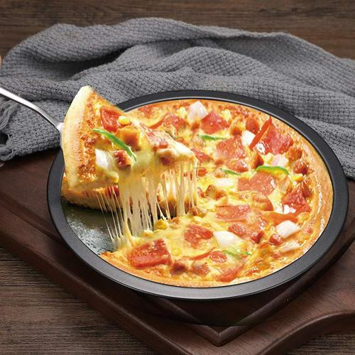 简约圆形大中小披萨盘 烘焙模具不粘不沾烤盘蛋糕模饼干pizza模具
