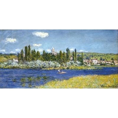 工作室|手绘莫奈塞纳河秋天海风景油画沙发墙装饰画挂画