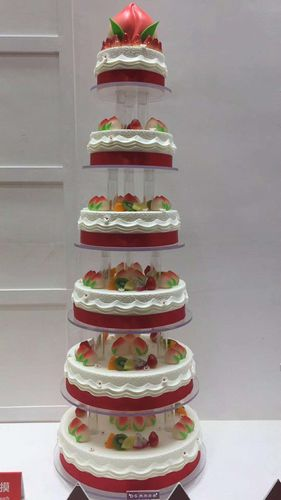 卓越蛋糕模型 多层架子蛋糕 祝寿寿桃仿真蛋糕  婚庆