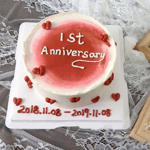 水果蛋糕儿童定制蛋糕预定广州深圳天津重庆成都长沙 一周年(字可改)