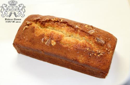 德国师傅新鲜制作 香蕉核桃蛋糕 无添加 banana walnut cake