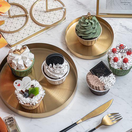 仿真蛋糕模型假奶油纸杯蛋糕 ins美食摄影道具橱窗装饰甜品台摆