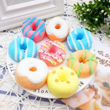 彩色 甜甜圈 可爱 卡通棉花糖  蛋糕西点装饰 包装500克 小号