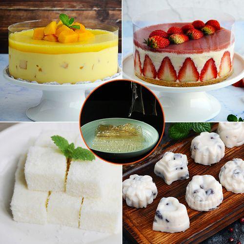 吉利丁片食用鱼胶片明胶粉做慕斯蛋糕布丁果冻烘焙