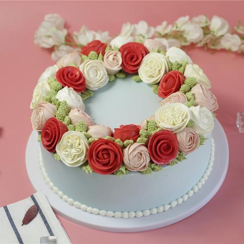 假亦真仿真蛋糕模型 韩式裱花玫瑰蛋糕模型定制造型