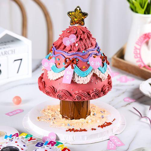 双层蛋糕打桩支架神器6寸8寸生日圣诞树蛋糕底部打桩