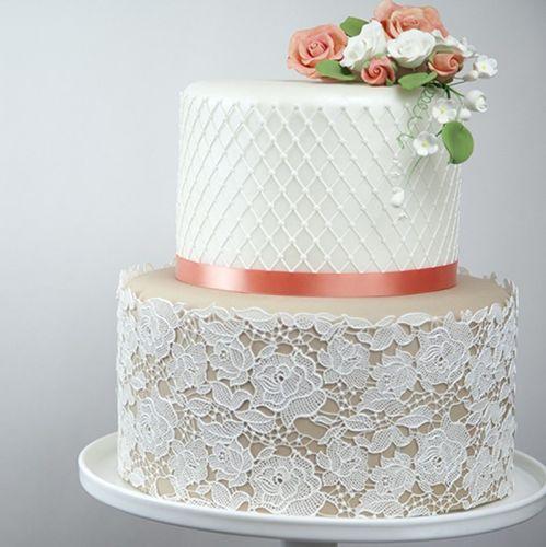 新款玫瑰花翻糖蛋糕蕾丝花纹模具手工diy蛋糕模具蛋糕