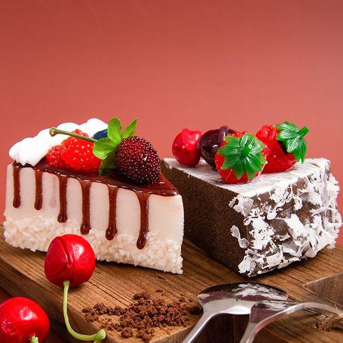 儿童仿真蛋糕模型过家家迷你水果甜点慕斯橱窗装饰