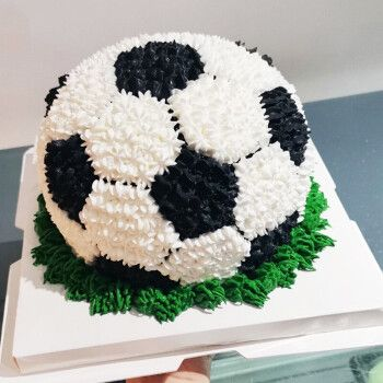 幸福拾盼 男孩男生足球队创意生日蛋糕同城配送当日新鲜送达广州