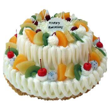 双层生日蛋糕两层多层新鲜奶油水果蛋糕上海广州南京长沙杭州