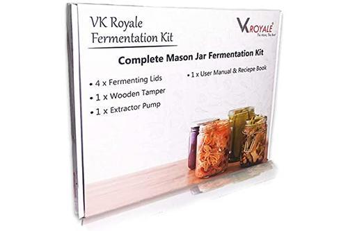 vk royale 发酵套装,适用于广口梅森罐,用于制作 sauerkraut,kimchi