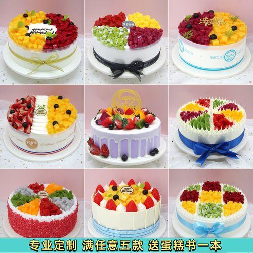 蛋糕模型仿真2021新款网红流行水果欧式奶油草莓塑胶生日蛋糕样品