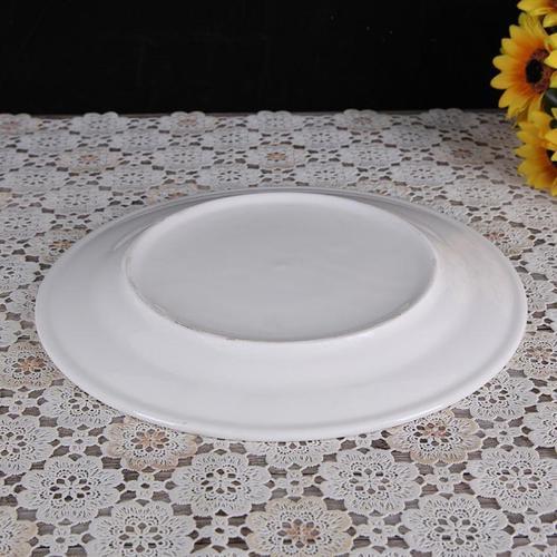 中式纯白骨瓷盘子陶瓷餐具西餐盘盘菜盘凉菜碟大号盘