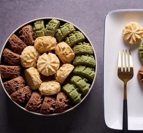 香港小熊珍妮曲奇花曲饼干原味抹茶巧克力三拼即食网