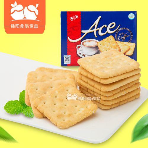 韩国进口食品海太ace饼干咸味饼干364g大盒饼干零食