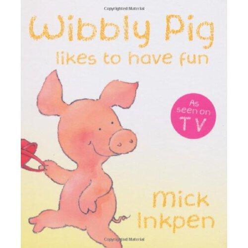 小猪威比:威比很开心(卡板书)  英文原版wibbly pig likes to have