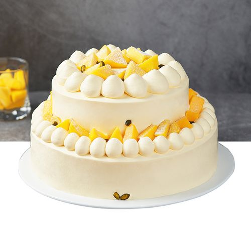 【双层】6磅雪芒芒-双层水果奶油蛋糕