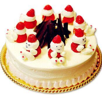 圣诞节蛋糕定制预定上海广州深圳杭州成都数码生日蛋糕全国同城