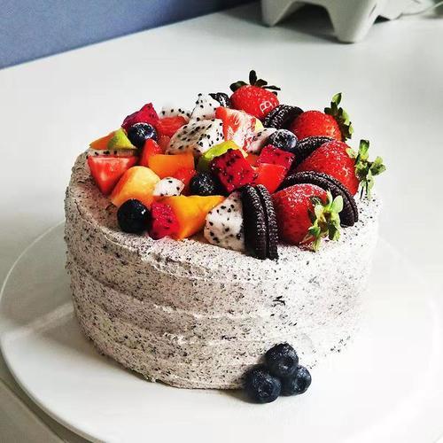 奥利奥水果风暴奶油蛋糕(6英寸,8英寸)