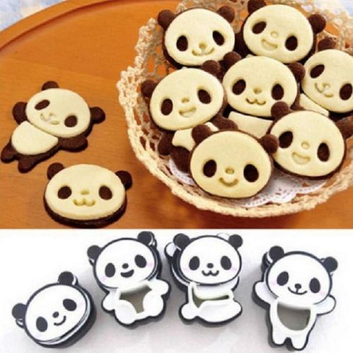 出欧美diy烘焙工具 熊猫饼干模 曲奇饼干模 翻糖压模恬趣diy 烘